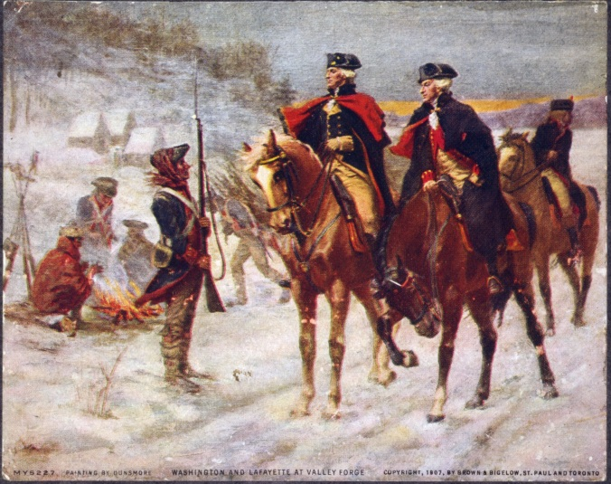 Washington_and_Lafayette_at_Valley_Forge on nelson